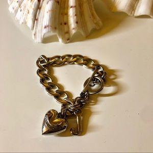 Juicy Couture Silver Heart Bracelet
